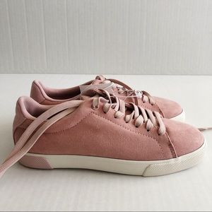 H&M lace up pink sneakers shoes
